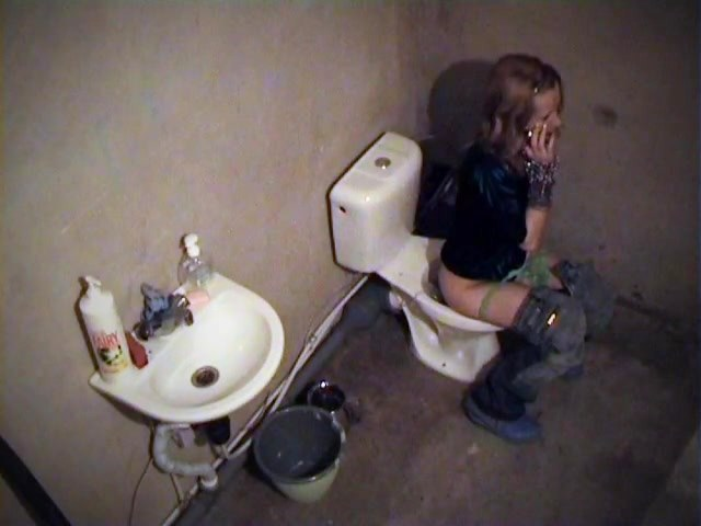 Toilet masturbation on then voyeur cam