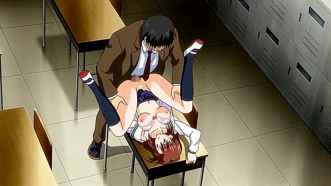 Anime schoolgirl loses virginity