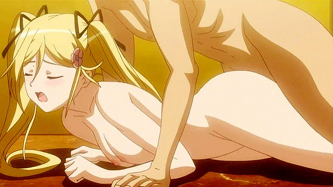 Hot Blonde Anime Girl In Bathroom Fuck