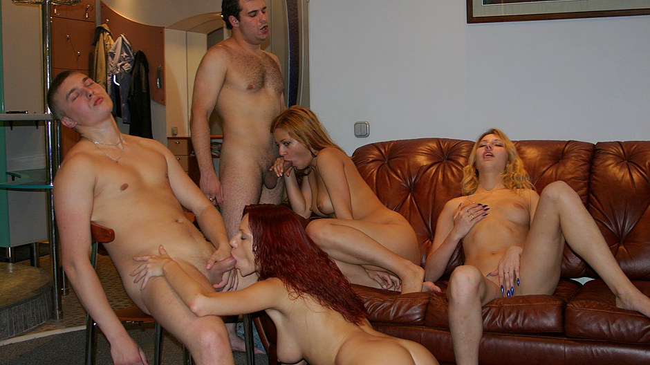 Playful pretty party girls lady killer horny guys