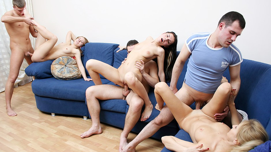 Badass college chicks dispose a crazy sex party