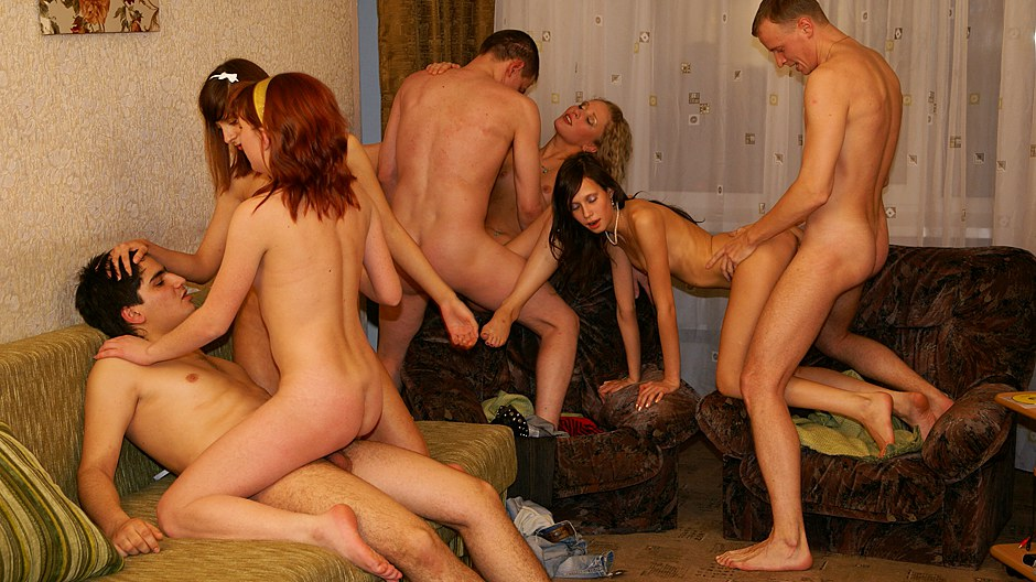 Truly mindblowing gangbang party sex panorama