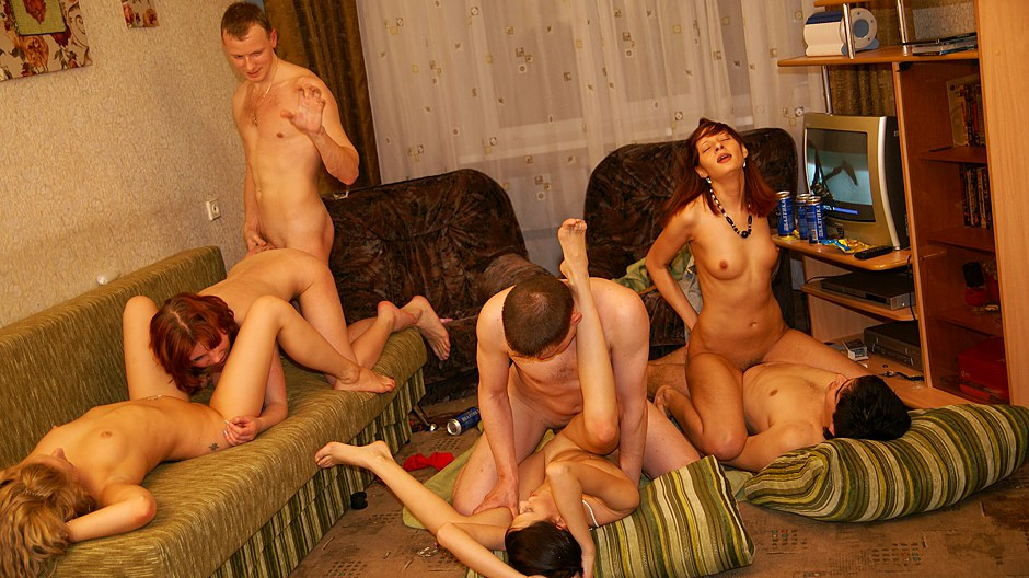 Spectacular and hot student orgy sex video