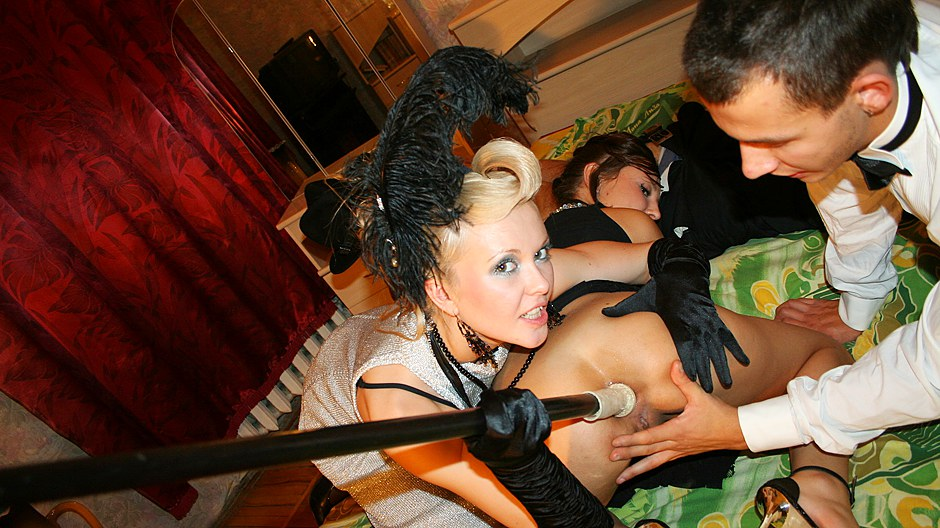 Hot group action at college sex wedding
