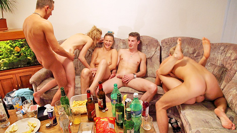 Hardcore group fucking at wild sextoy party