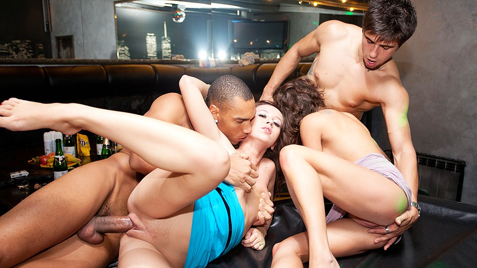 Wild celebration porn with totally badass chicks