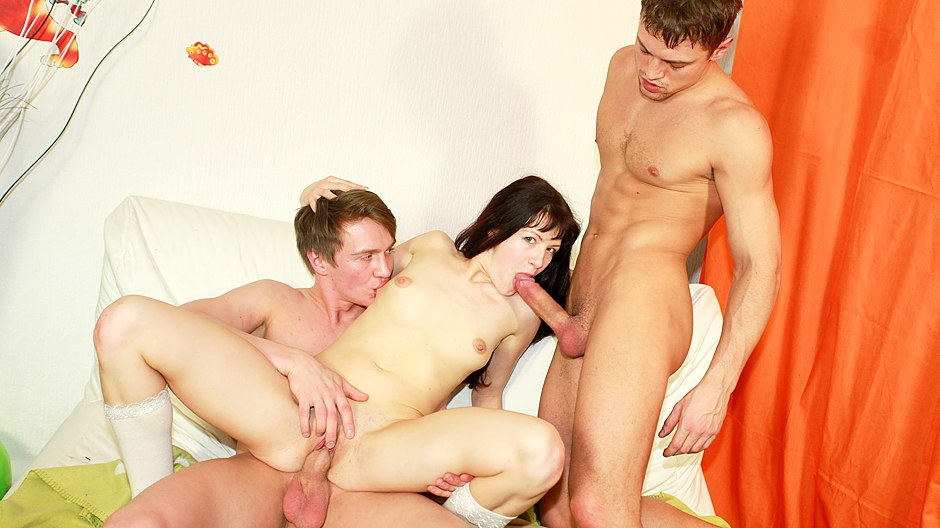 Horny college student fucking at Bday party