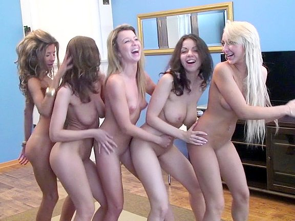 Hot girls get together for lesbian fucking