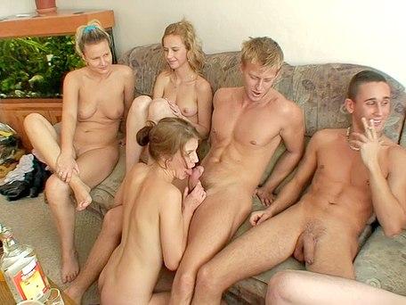 hot college party girls enjoy hard sex