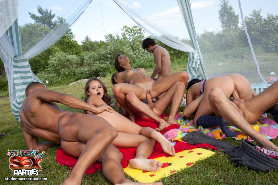 Orgy beach sex party