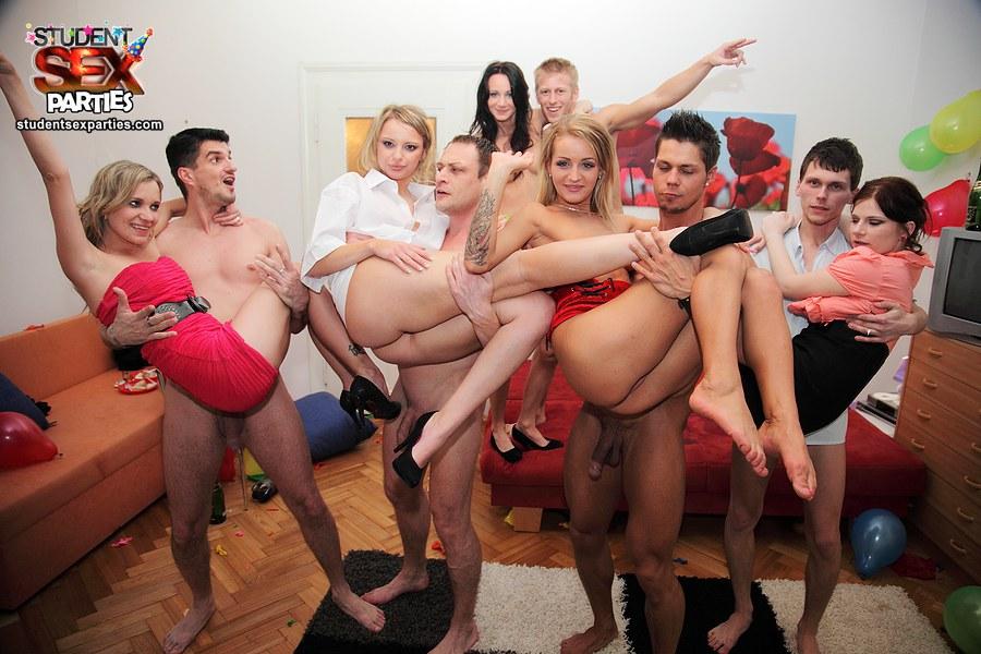 wild student party