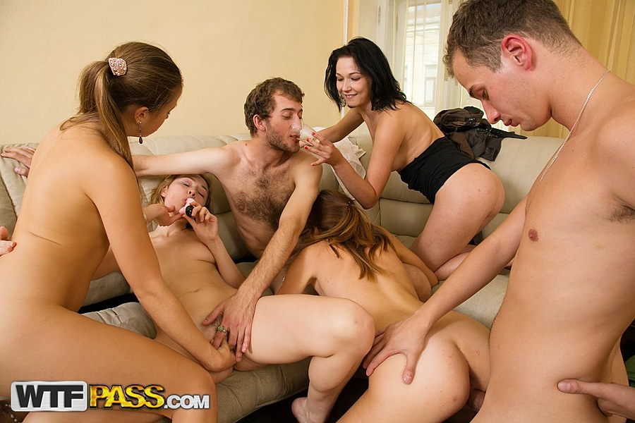 Orgy sex free video students