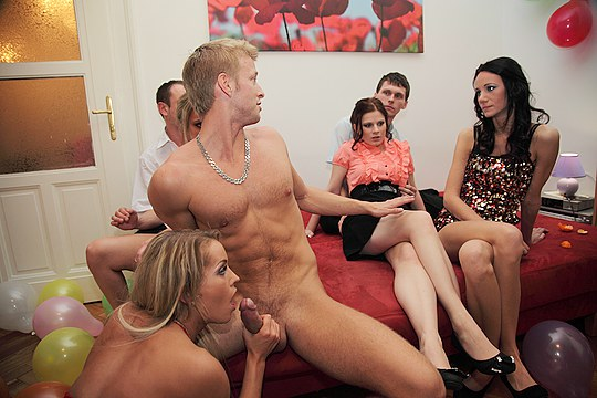 Crazy hotties fuck at B-day party