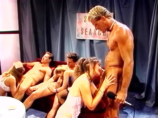 Retro movie with group oral scenes