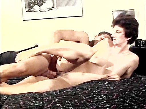 Retro milf enjoys young pecker