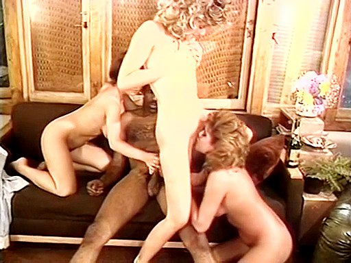 Three retro pussies for black stick