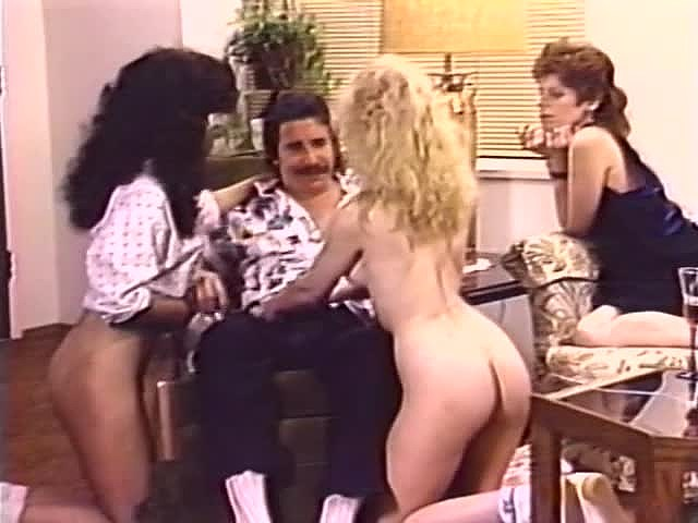 Alicia Monet, Amber Lynn, Brandy Alexandre in classic xxx scene - סרטי סקס
