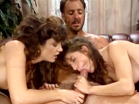Bionca, Nikki Dial, Steve Drake in 80s porn girls finger each other's shaved pussies - סרטי סקס